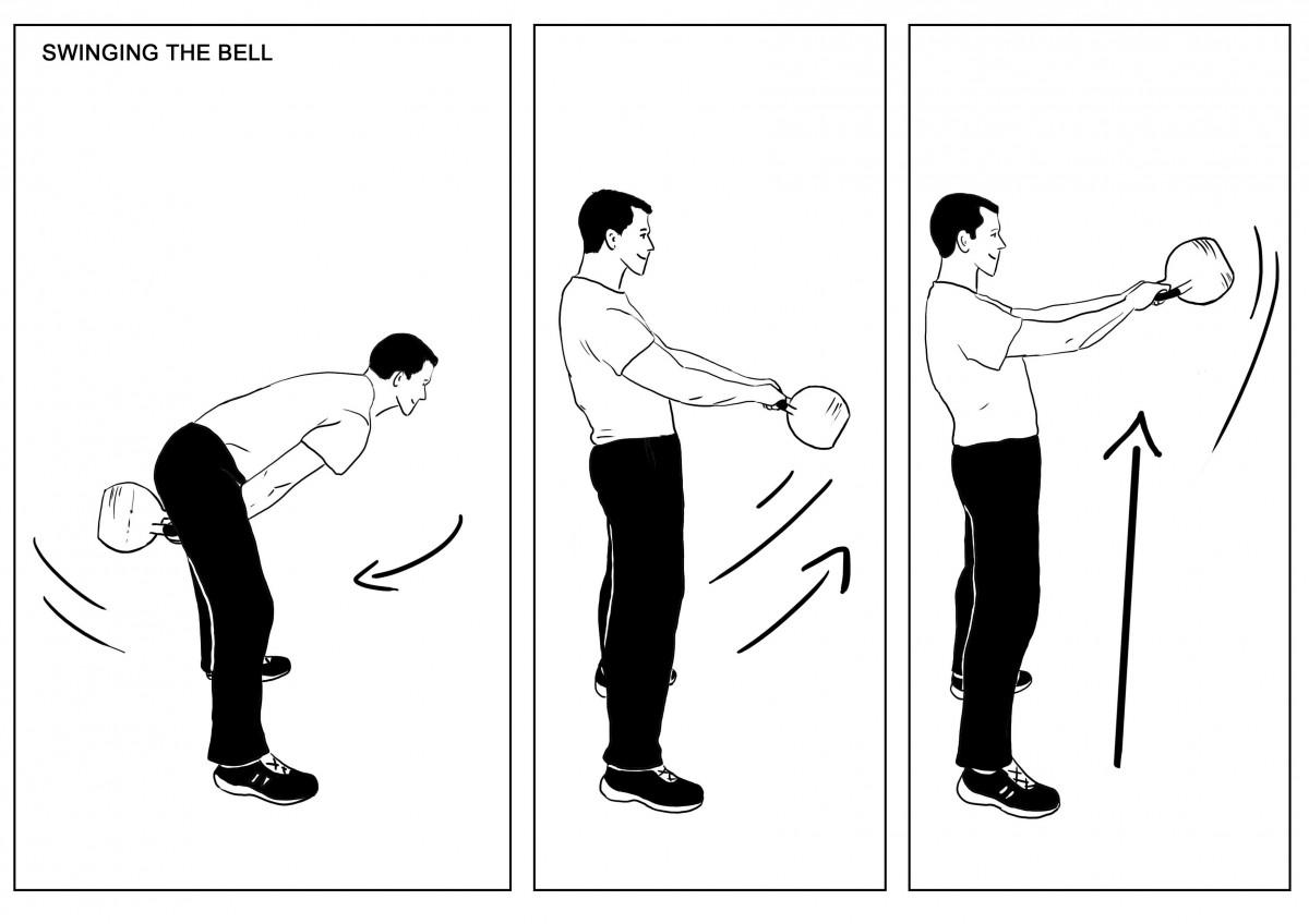 Swinging the bell full
